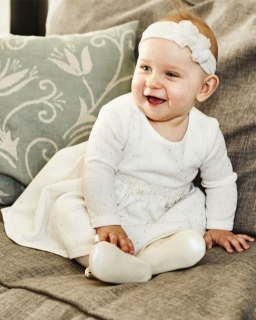 Sukienka z dzianiny sweterkowej 68-86 Lara kremowowy