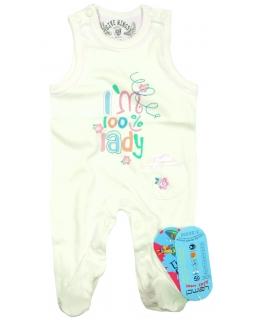 Pajac niemowlęcy bez rękawków 68-74 Lucy 2 ecru