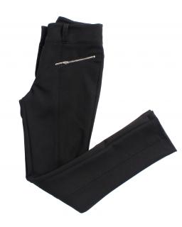 Zwężane eleganckie spodnie z zameczkiem 128-158 Maja czarne