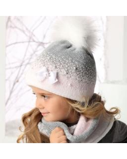 Ciepły zimowy komplet dla dziewczynki 50-52 AJS 34-352 trzy kolory