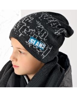 Zimowy komplet dla chłopca 52-54 AJS 34-451 popiel