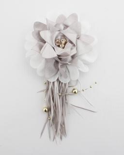 Broszka z kwiatem KW07 Srebro