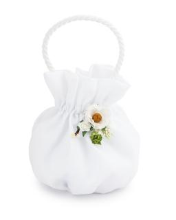 Biała torebka na komunię T11