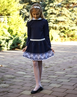 Granatowa-sukienka-dla-dziewczynki