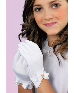 Rękawiczki-komunijne-z-kokardą