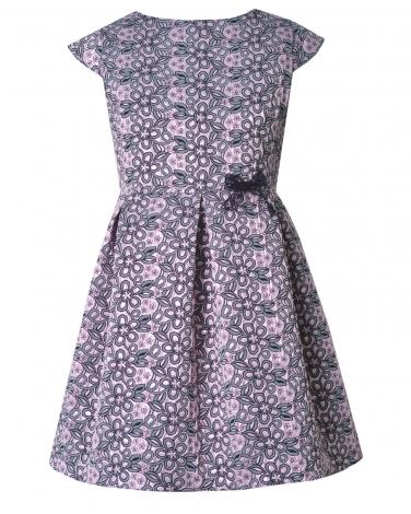 ca6b69f7fe Modna żakardowa sukienka 134-164 Ella róż plus szary