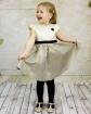 Elegancka sukienka w groszki 98-146 Aniela złoty
