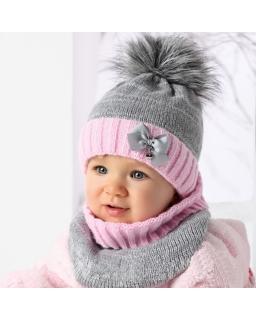 Ciepła-zimowa-czapka-dziewczęca