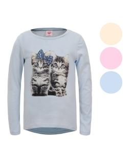Bluzka z motywem w koty 116-128 GCX-4807 trzy kolory