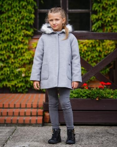 Płaszcz dla dziewczynki na zimę, Coat for girl in winter, Blumore