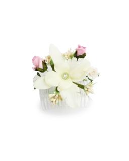 Stroik na grzebyku z dużym kwiatem ST29