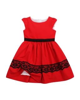 Elegancka sukienka na święta 92-152 Joanna czerwona