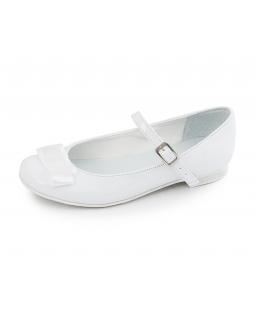Białe baleriny dziewczęce, na uroczystości, shoes for girl, web store