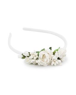 Opaska z delikatnymi kwiatami OP32