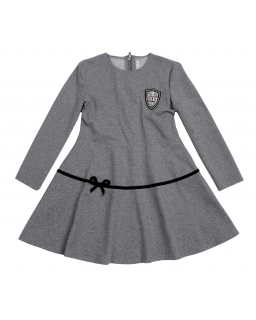 Dresowa sukienka z ozdobnym zamkiem 134 - 158 Irena szara