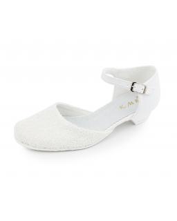 Białe półbuty na obcasie dla dziewczynki 31-38 05/KMK