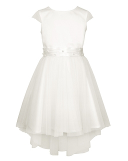 35bf23bc84 Tiulowa sukienka dla dziewczynki 134-164 3B SM 18 ecru