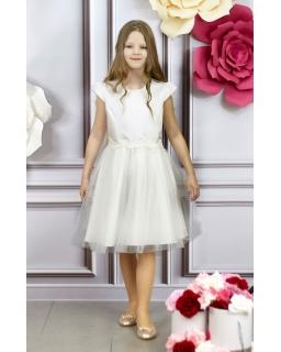 84434e3d67 Pokomunijna sukienka dla dziewczynki 134-164 Julia kremowa
