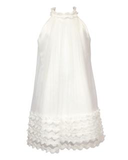 Romantyczna sukienka pokomunijna 134-158 18/SM/18 jasny ecru