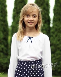 Bluzka dla dziewczynki, biała, blouse for girl, sklep online, webshop