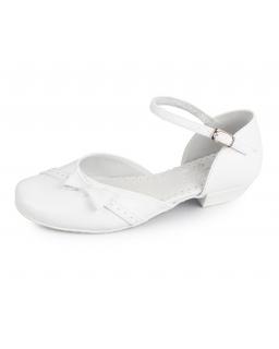 Komunijne buty dla dziewczynki, białe, Communion shoes for a girl