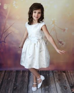 Błyskotliwa sukienka z paskiem 62 - 152 Tacjana 4 złota