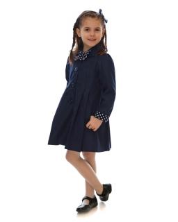 Klasyczny płaszcz na guziki 86-134 Sally grantowy