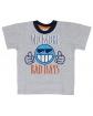 Szara koszulka z krótkim rękawem dla chłopca, sportowa, sklep internetwowy.