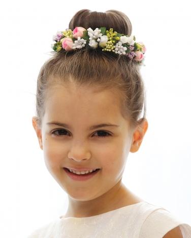 Wianki komunijne dla dziewczynek, Wianek na koka do dziewczęcej fryzury