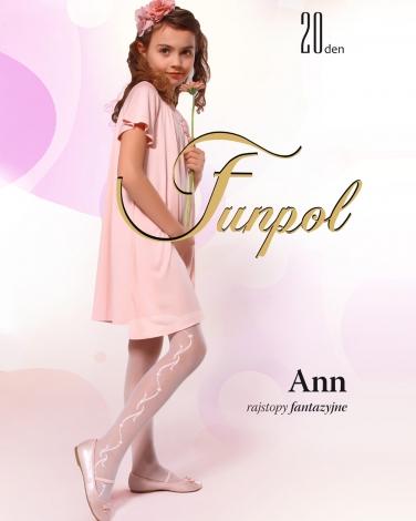 91ffdd0dfe58ac Rajstopy dla dziewczynek na komunię Białe rajstopki dla dzieci 20den funpol  tights for girl sklep