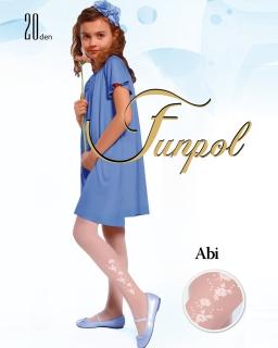 Rajstopy dla dzieci Dziewczęce Białe rajstopki 20den funpol tights for girls sklep