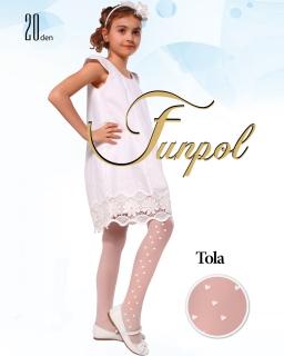 Rajstopy dla dziewczynek Białe Cienkie na komunię pod albę 20den funpol tights for girl sklep