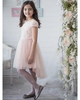 a665b63da7 Asymetryczna sukienka z brokatowym tiulem 128-158 Cleo łososiowa