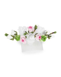 Stroik z kwiatami na grzebyku ST24