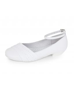 Komunijne buty na obcasie 32-38 BK35 białe
