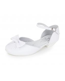 Buty z kokardą dla dziewczynki 32-38 BK37 białe