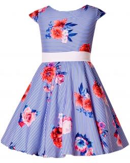 Sukienka dla dziewczynki Suknia na lato przyjęcie wesele Kolorowa sukieneczka Polska