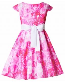 Sukienka dla dziewczynki Suknia na lato przyjęcie wesele Kolorowa