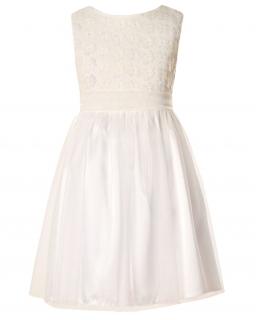 Sukienka dla dziewczynki ecru sukienki dla dzieci sklep z sukienkami dla dziewczynek Dress for a girl shop