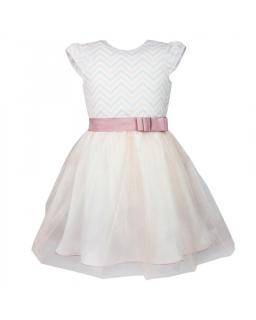 36374bbc Sukienka wizytowa 128-152 Edyta 2 różowa