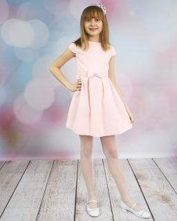 Dziewczęca sukienka z kokardą 134-152 Selena