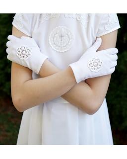 Rękawiczki komunijne KB43
