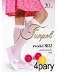 Białe podkolanówki dziewczęce dla dziewczynki komunijne na komunię sklep webshop