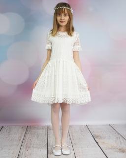 Koronkowa sukienka 134-158 Sabina 2 ecru