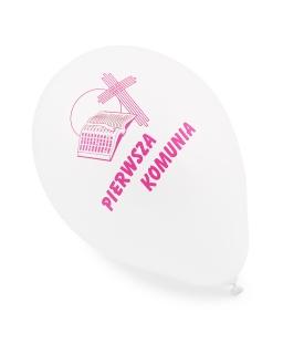 Balon komunijny różowy 5 sztuk