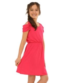 Sukienka z opadającymi ramiączkami 128-158 KRP135 fuksja