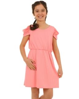 Sukienka z odsłoniętymi ramionami 128-158 KRP135 morelowa