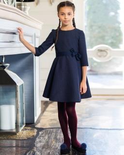 Sukienka dla dziewczynki granatowa elegancka galowa szkolna sklep internetowy webshop dress for a girl school