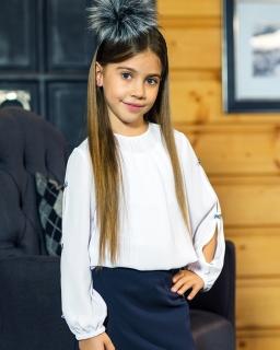 Bluzki dla dziewczynek białe eleganckie wizytowe modne Galowe Wizytowe girls' blouses webshop