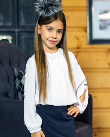 177eec7344 Bluzki dla dziewczynek białe eleganckie wizytowe modne Galowe Wizytowe girls   blouses webshop